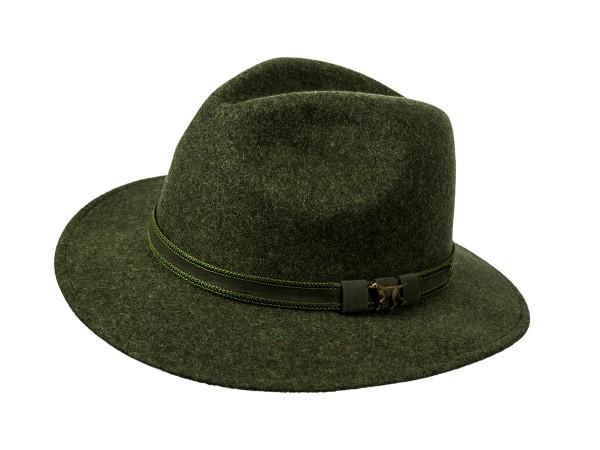 Skogen Hut mit Ledergarnitur Jagdhund (oliv)