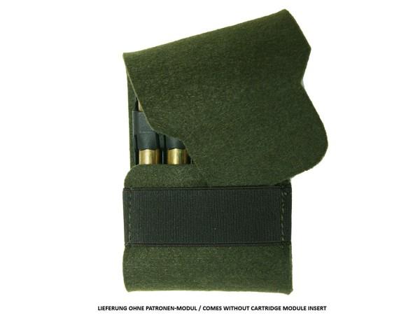 AKAH Patronenetui aus Filz für RWS Einsätze (grün)