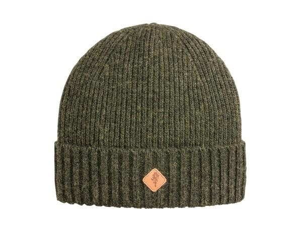 Pinewood Wool Knitted Mütze (Moosgreen Melange)