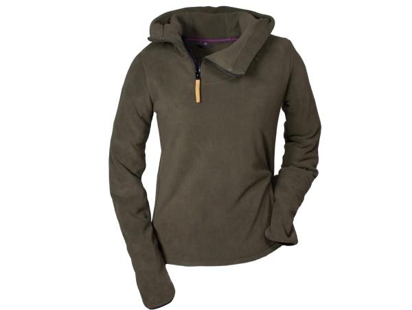 Hubertus Ladies Fashion Fleece-Hoody (oliv/braun)