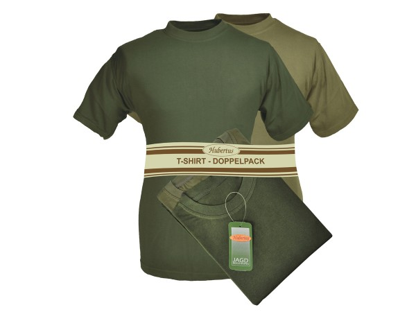 Hubertus T-Shirt Doppelpack (oliv)