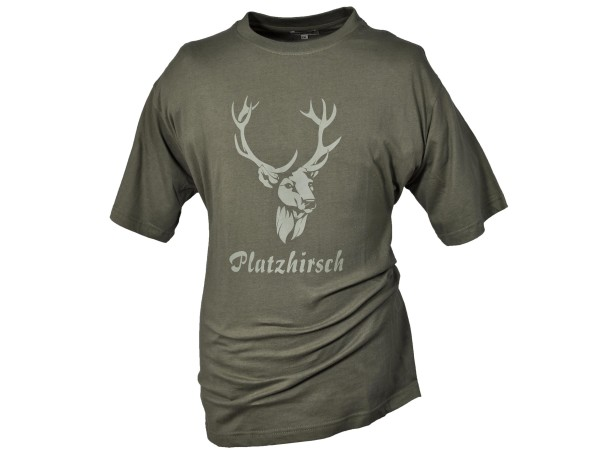 Hubertus T-Shirt Platzhirsch (oliv)