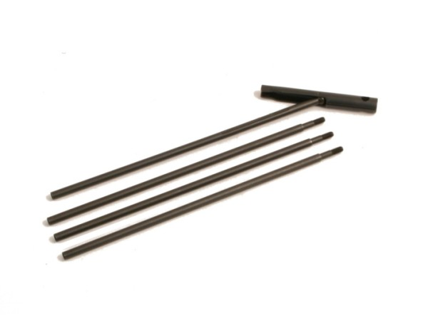 Niebling Reinigungsstab Stahl brüniert, 4-teilig mit M4 Gewinde