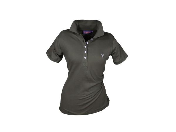 Hubertus Damen Piquet Shirt Kurzarm (dkl.-oliv)
