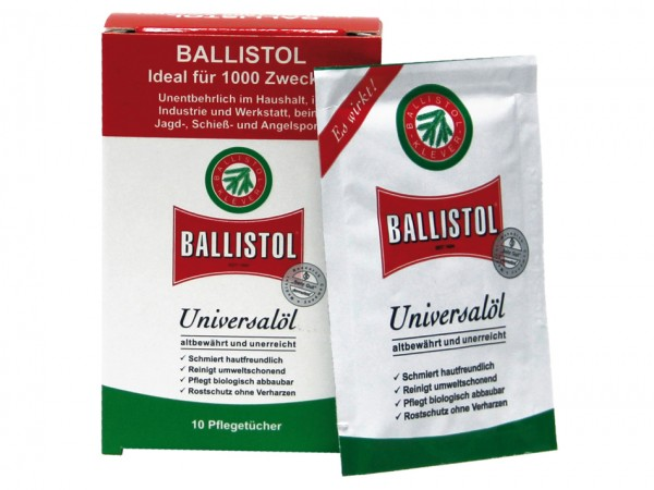Ballistol Pflegetücher (10 Stück)