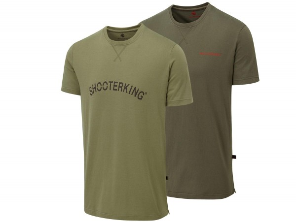 Shooterking T-Shirt Outlander 2er-Pack (Oliv/grün)