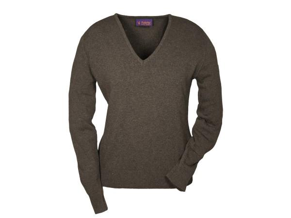 Hubertus Ladies V-Pullover (braun)