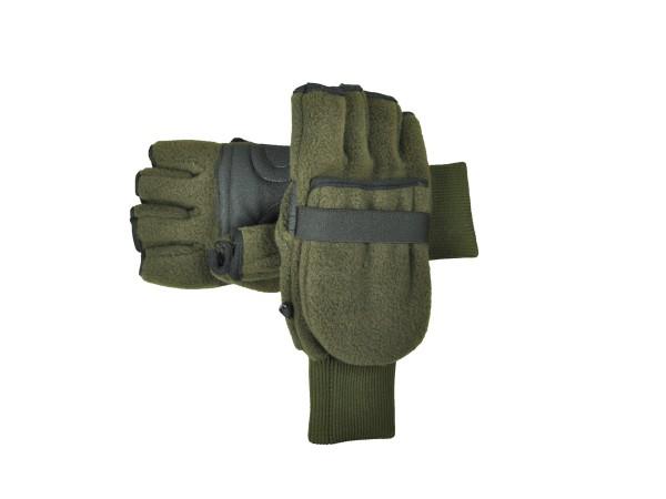 Skogen Fleece Handschuhe mit Fäustel (oliv)