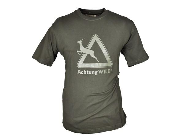 Hubertus T-Shirt Verkehrsschild (oliv)