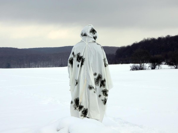 Schneetarnponcho