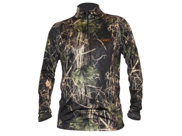 Hart Aktiva-Z Forest Funktions Langarmhemd mit Reißverschluss