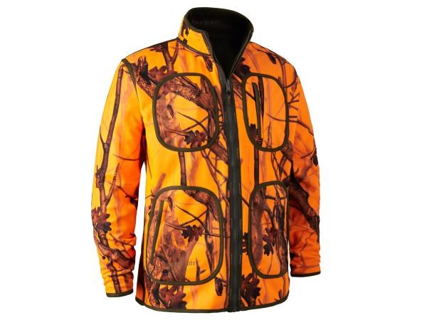 Deerhunter Gamekeeper wendbare Fleecejacke (orange-camo/braun)