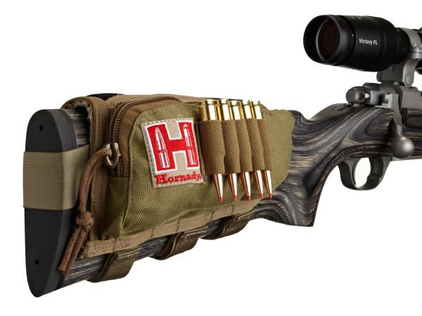 Hornady Gewehrschafttasche Gun Cheek Piece (Tan / Rechtsschütze)