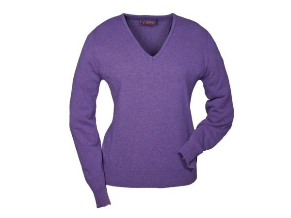 Hubertus Ladies V-Pullover (lila)
