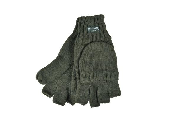 Skogen Strick Handschuhe (oliv)