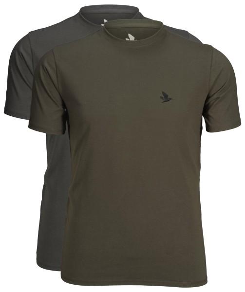 Seeland Outdoor T-Shirt 2er-Pack (Raven/Pine green)