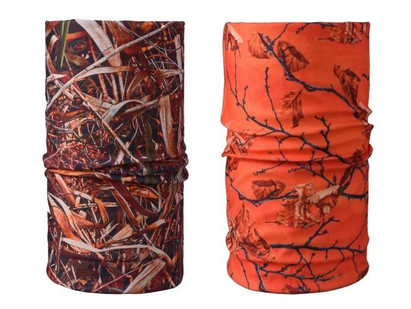 Camokönig Multifunktionstuch-Set 3D-Camouflage (schilf, orange)
