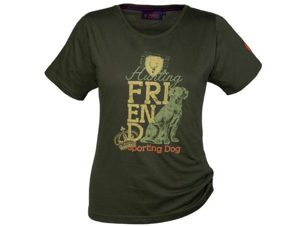 Hubertus Sporting Dog T-Shirt Damen (moos)