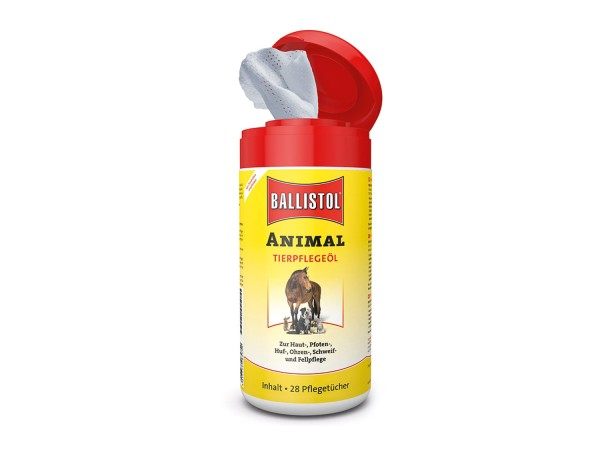 Ballistol Animal Pflegetücher Spenderbox (28 Stück)