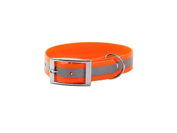 Mystique Biothane-Halsband Deluxe (orange)