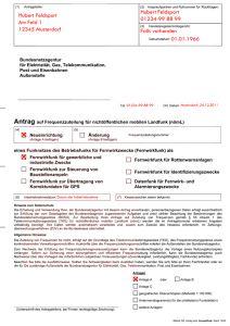 Formblatt 1 der Anmeldung für das Garmin Astro 220